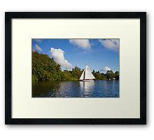 Sailboat on Norfolk Broads Framed Print