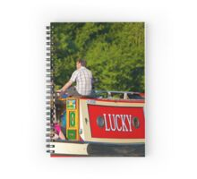 Narrow Boat on the River Thames Spiral Notebook