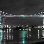 Newport Transporter Bridge at Night by ChrisChallenger