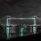 Newport Transporter Bridge at night. by ChrisChallenger