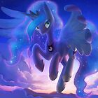 Princess Luna in the Sky by Dawnfire
