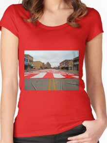 Tents On Main Street Women's Fitted Scoop T-Shirt