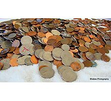 Count the coins and change Photographic Print