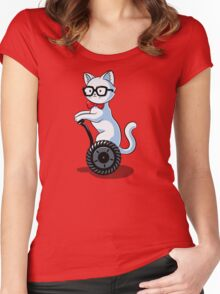 White and Nerdy Women's Fitted Scoop T-Shirt