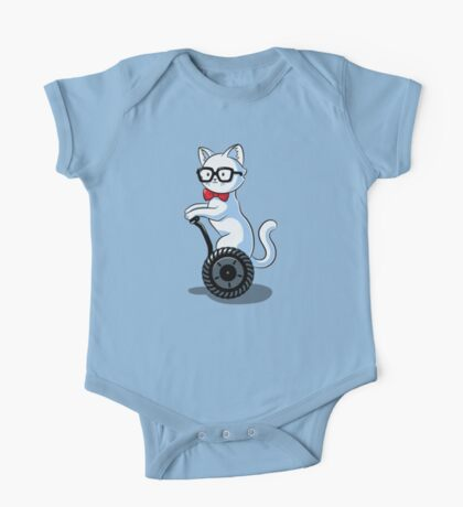 White and Nerdy One Piece - Short Sleeve