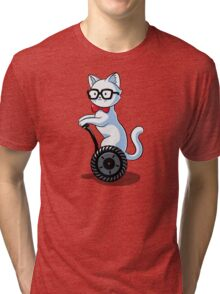 White and Nerdy Tri-blend T-Shirt
