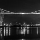 Newport Transporter Bridge at Night Panorama by ChrisChallenger