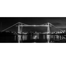 Newport Transporter Bridge at Night Panorama Photographic Print