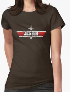 Custom Top Gun Style - Jester Womens Fitted T-Shirt