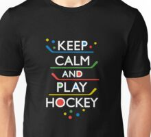 Keep Calm and Play Hockey - on dark   T-Shirt