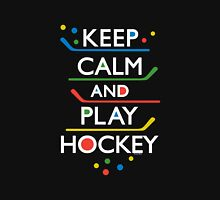 Keep Calm and Play Hockey - on dark   Unisex T-Shirt