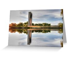 Which Way Up National Carillon Canberra Greeting Card