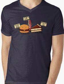Occupy Stomach Mens V-Neck T-Shirt