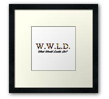 What Would Leslie Do? Framed Print