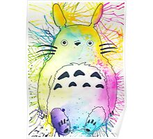 Pen and Ink Totoro Poster