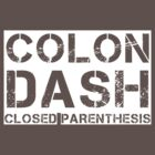 Colon, Dash, Closed Parenthesis (white) by glassCurtain