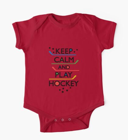 Keep Calm and Play Hockey - on white     Kids Clothes