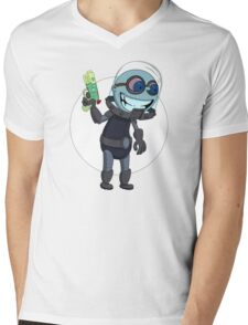 Mr Freeze heats things up Mens V-Neck T-Shirt
