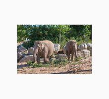 Pair of Asian Elephants eating Unisex T-Shirt