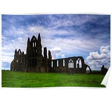Whitby Abbey Ruin Poster