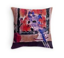 A painting within a painting and the overflow!!  watercolor Throw Pillow