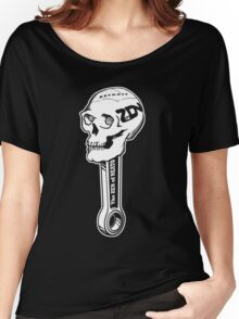 ZON Skull (white ink) Women's Relaxed Fit T-Shirt