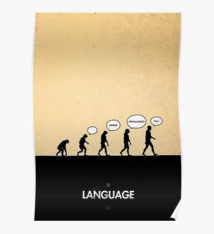 99 Steps of Progress - Language Poster