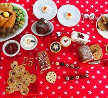 1/12th scale miniature Christmas Food by SadieBrown