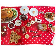 1/12th scale miniature Christmas Food Poster