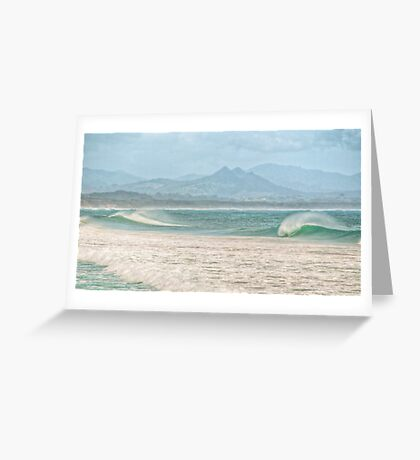 Misty Seascape - Byron Bay Greeting Card