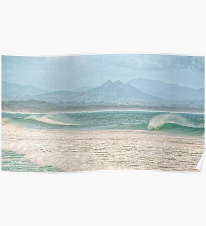 Misty Seascape - Byron Bay Poster