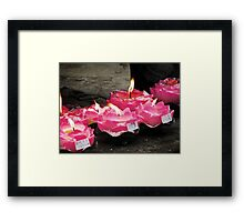 Lotus Candles  Framed Print