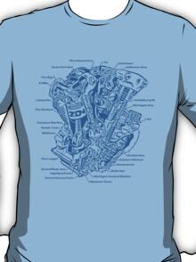 Detroit POWER! (blue ink) T-Shirt