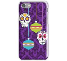 Holiday Skulls and Ornaments iPhone Case/Skin