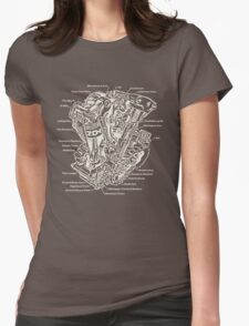 Detroit POWER! (tan ink) Womens Fitted T-Shirt