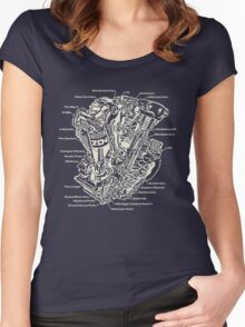 Detroit POWER! (army) Women's Fitted Scoop T-Shirt