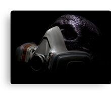 Gas Mask Glitter Skull Canvas Print