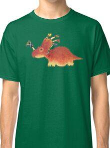Orange Styracosaurus Derposaur with Socks Classic T-Shirt