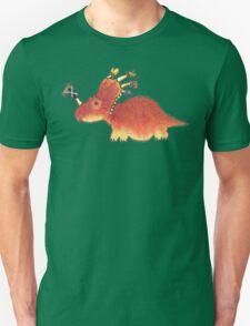 Orange Styracosaurus Derposaur with Socks Unisex T-Shirt