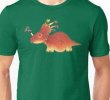 Orange Styracosaurus Derposaur with Socks Unisex T-Shirt