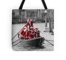 Santa's on a Venetian Gondola !!  Tote Bag