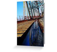 Mojave River Railroad Bridge Greeting Card