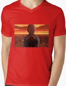Squid like Mars alien Mens V-Neck T-Shirt