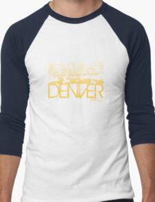 Denver Skyline T-shirt Design Men's Baseball ¾ T-Shirt