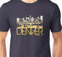 Denver Skyline T-shirt Design Unisex T-Shirt