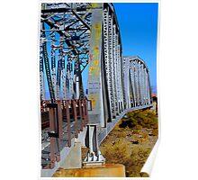 Mojave River Railroad Bridge - Full Bridge View Poster