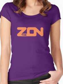 ZON classic (orange ink) Women's Fitted Scoop T-Shirt