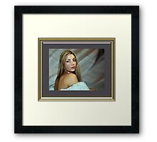 """ Paint me softly "" Framed Print"