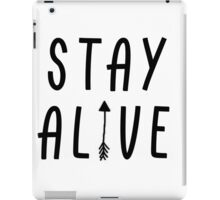 Stay Alive - Hunger Games (Black) iPad Case/Skin