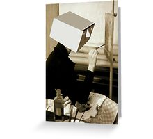 portrait of frida kahlo with cubistic head Greeting Card